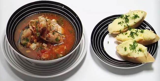 Пошаговый рецепт приготовления классического рыбного супа Буйабес