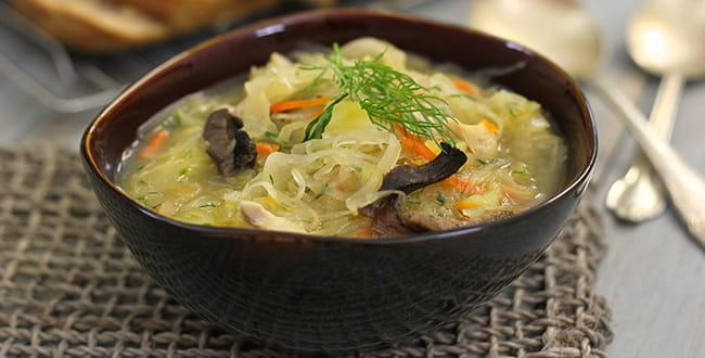 Пошаговый рецепт приготовления супа Щи из свежей капусты с курицей