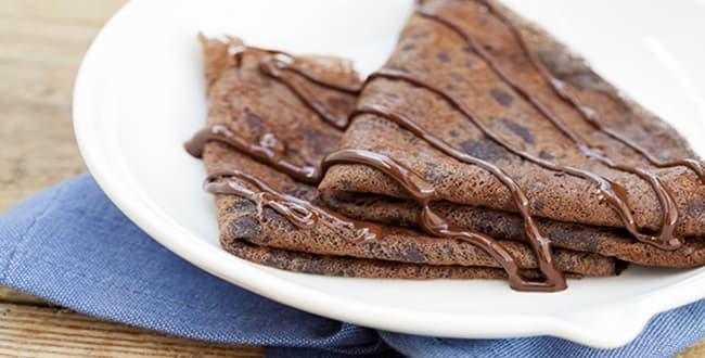 Пошаговый рецепт приготовления шоколадных блинов