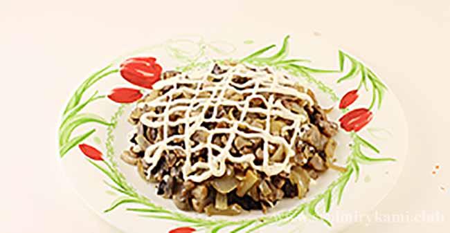 Второй слой для салата березка