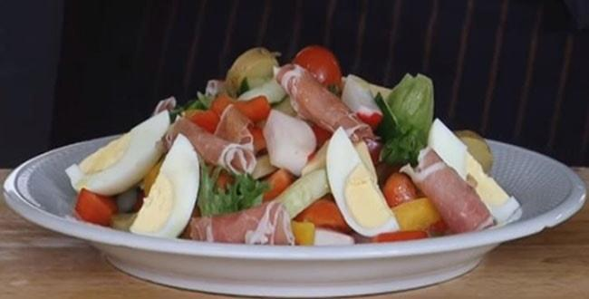 Пошаговый рецепт приготовления салата Весенний