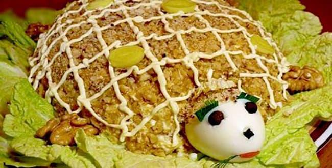 Пошаговый рецепт салата Черепаха с фото