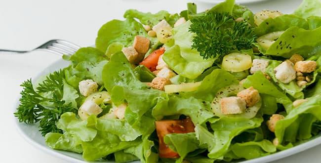 Пошаговый рецепт салата из листьев салата