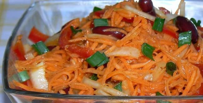 Пошаговые рецепты простых и вкусных салатов с корейской морковью