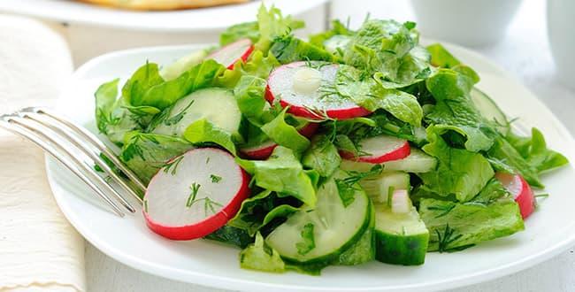 Пошаговый рецепт салата с редиской