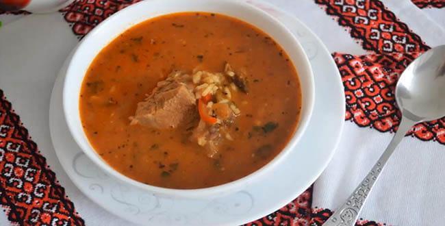 Пошаговый рецепт классического супа Харчо из говядины с рисом