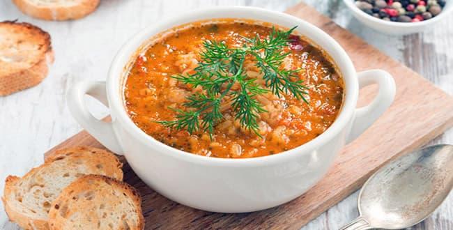Пошаговый рецепт классического супа харчо из курицы с рисом