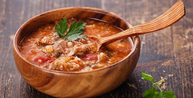 Пошаговый рецепт классического супа харчо из свинины с рисом