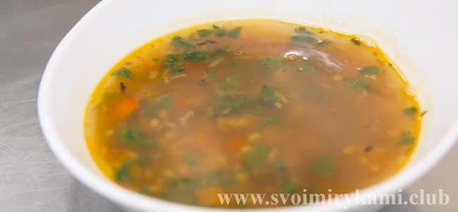 Суп из говядины готов