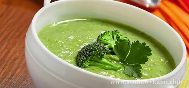 Крем-суп из брокколи в мультиварке готов