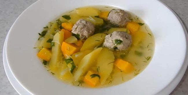 Пошаговый рецепт супа с фрикадельками и вермишелью