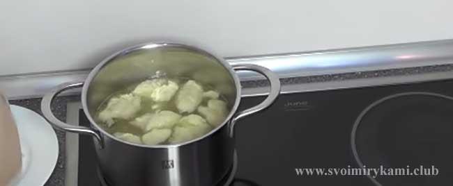 Повторяем процесс для супа с галушками