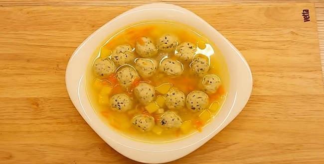 Пошаговый рецепт приготовления супа с куриными фрикадельками