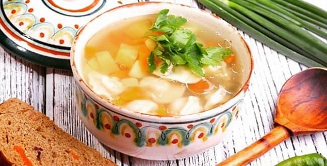 Пошаговый рецепт приготовления супа с пельменями