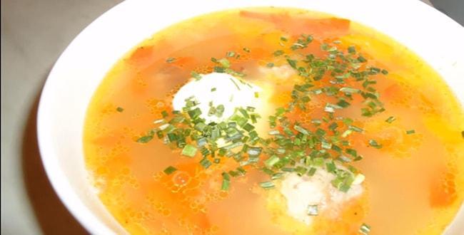 Пошаговый рецепт приготовления супа с тефтелями