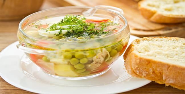 Суп из зеленого горошка рецепт 🥝 как сварить со свежим горохом