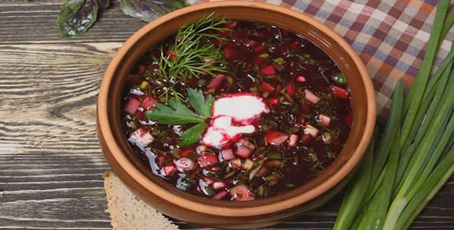 Пошаговый рецепт классического холодного Свекольника