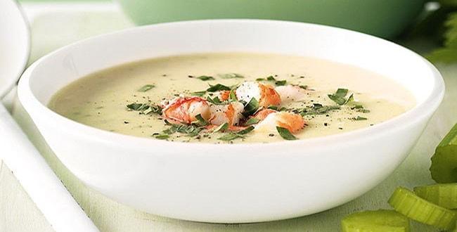 Пошаговый рецепт сырного супа с креветками