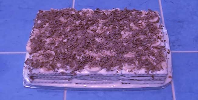 Пошаговый рецепт приготовления торта из печенья без выпечки
