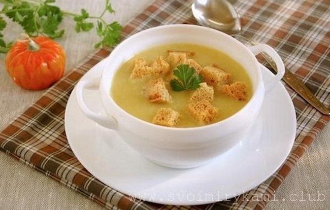 Вкуснейший картофельный суп пюре с грибами готов