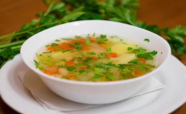 Наш рисовый суп готов.
