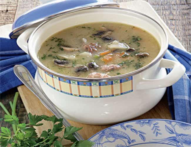 Суп из куриных сердечек готов.