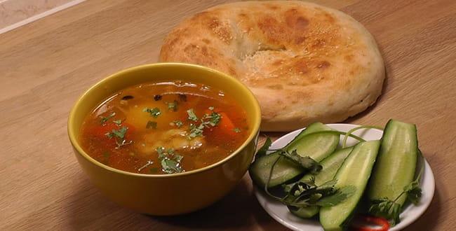 Пошаговый рецепт приготовления шурпы из баранины по-узбекски