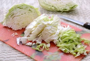 Мы используем для приготовления вареников белокочанную капусту
