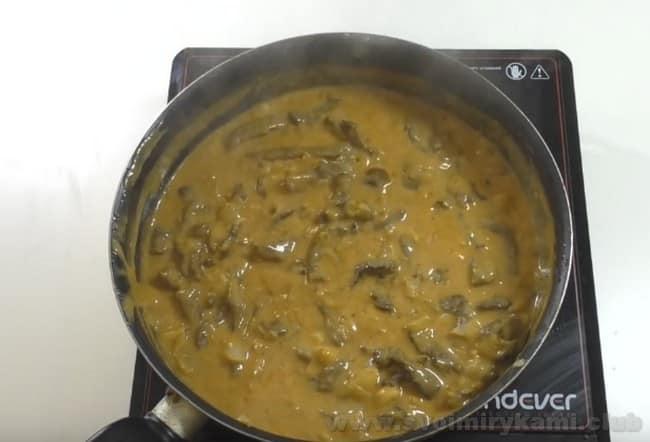 Теперь вы знаете как приготовить бефстроганов из говядины с подливкой.