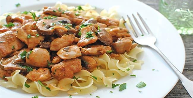 Пошаговый рецепт приготовления бефстроганова из курицы