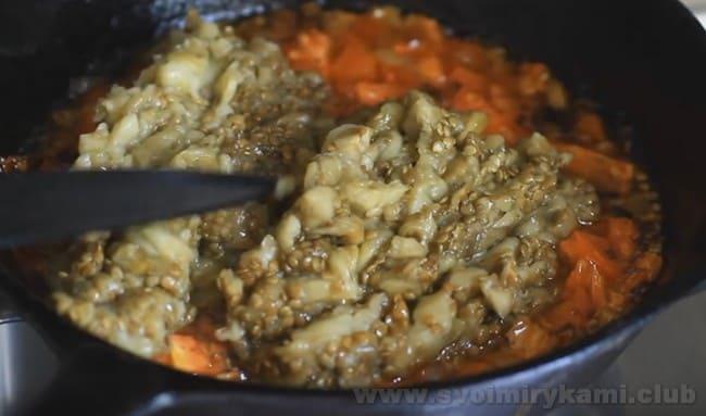 Это один из самых простых и вкусных рецептов фаршированных баклажанов.