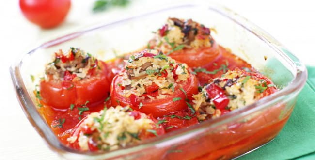 Пошаговые рецепты приготовления фаршированных помидоров в духовке