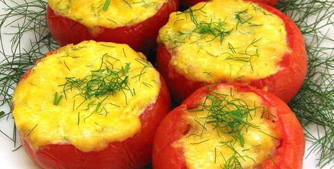 как приготовить фаршированные помидоры в духовке