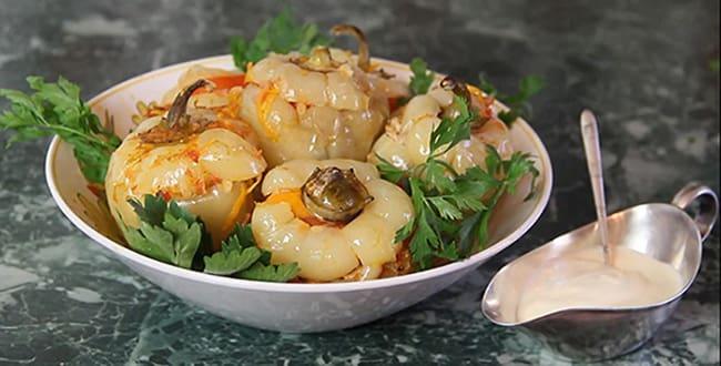 Пошаговые рецепты фаршированного перца с фаршем и рисом в кастрюле