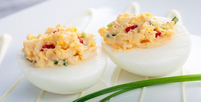 Пошаговые рецепты приготовления фаршированных яиц