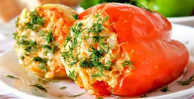 Самый вкусный рецепт приготовления фаршированного овощами перца