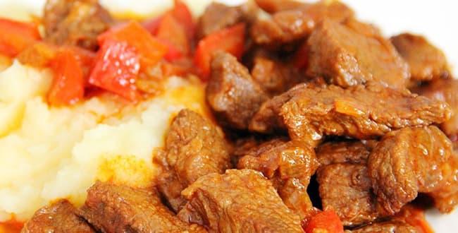 Пошаговый рецепт приготовления гуляша из свинины в мультиварке
