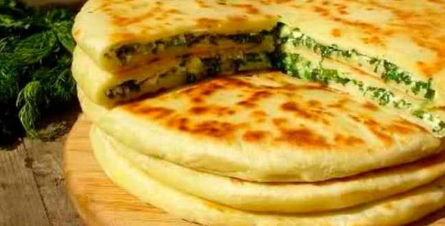 Пошаговый рецепт хачапури с творогом, сыром и зеленью
