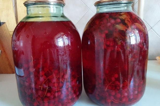 Вкуснейший компот из красной смородины и крыжовника готов.