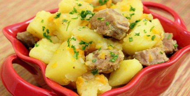 Пошаговые рецепты приготовления картошки с мясом в мультиварке