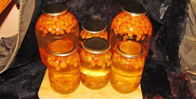 Пошаговый рецепт приготовления компота из морошки на зиму
