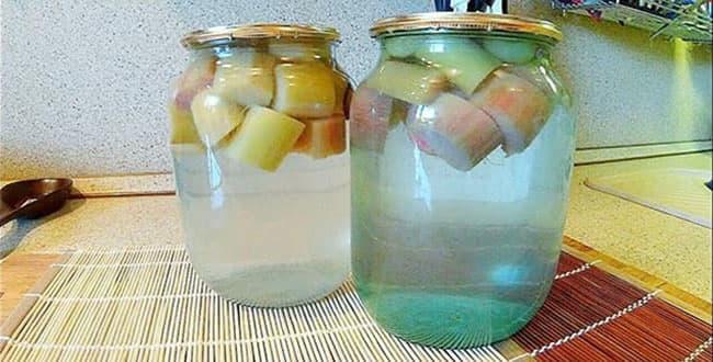Пошаговый рецепт приготовления компота из ревеня на зиму