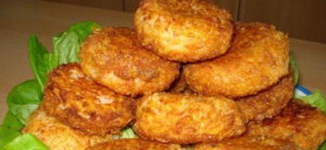 Крабовые котлеты с сыром и картофелем готовы