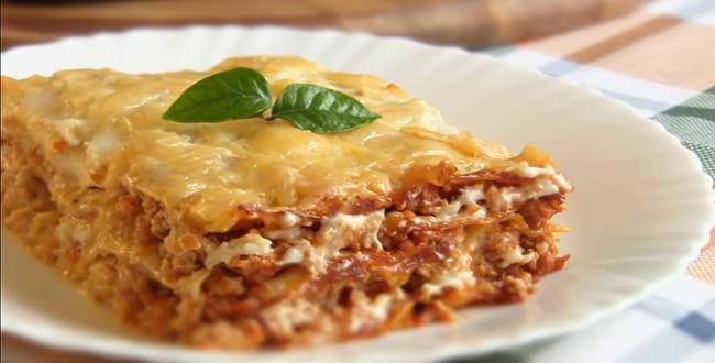 Лазанья с фаршем и сыром 🥝 простой рецепт, готовим в духовке пошагово