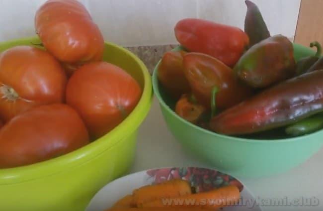 Приготовим вкусное лечо с морковью и перцем.