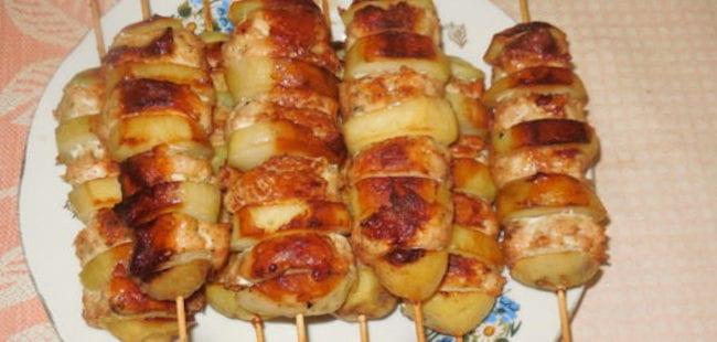 Люля-кебаб с картошкой