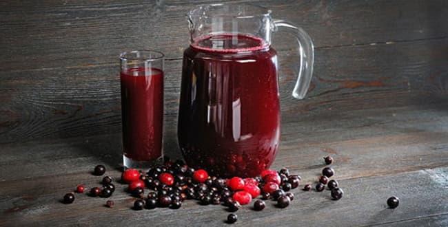 Пошаговый рецепт приготовления морса из красной и черной смородины