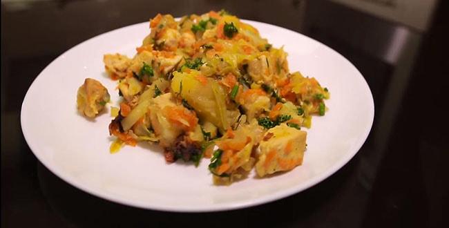Пошаговые рецепты приготовления овощного рагу с курицей