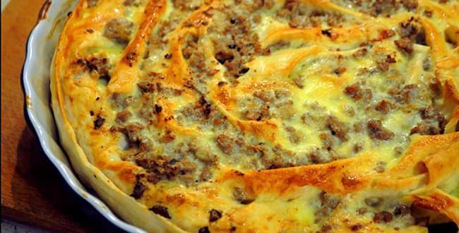 Пошаговый рецепт приготовления пирога из лаваша