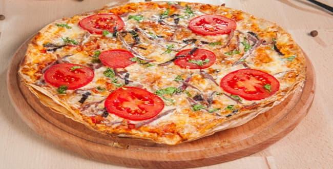 Пицца на лаваше 🥝 на сковороде, фото